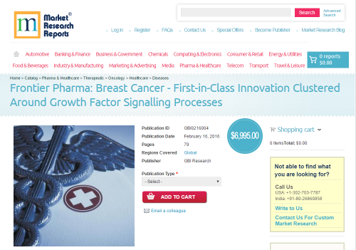 Breast Cancer - First-in-Class Innovation Clustered Around'