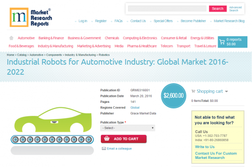Industrial Robots for Automotive Industry: Global Market'