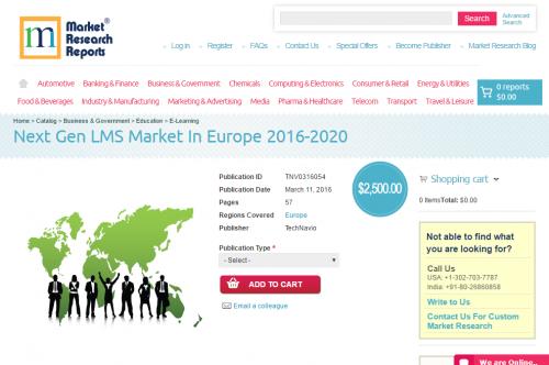 Next Gen LMS Market in Europe 2016 - 2020'