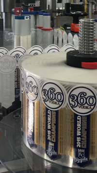 Royals 360 Vodka on the production line