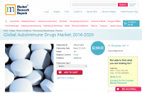 Global Autoimmune Drugs Market 2016 - 2020