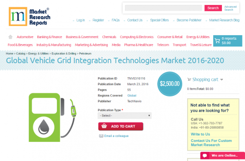 Global Vehicle Grid Integration Technologies Market 2016 -20'