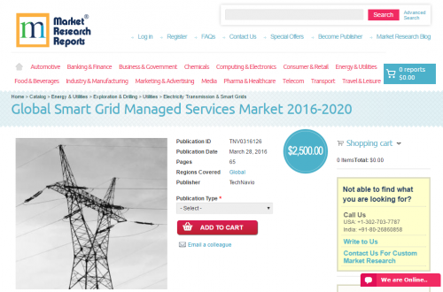 Global Smart Grid Managed Services Market 2016 - 2020'