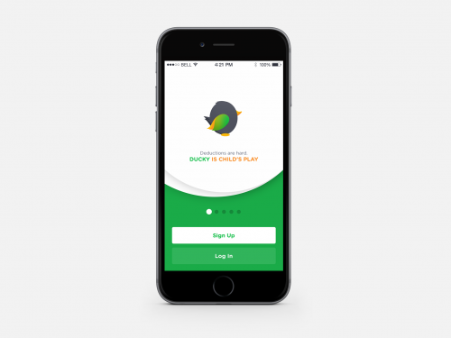 Ducky is Tinder for Expense Tracking'