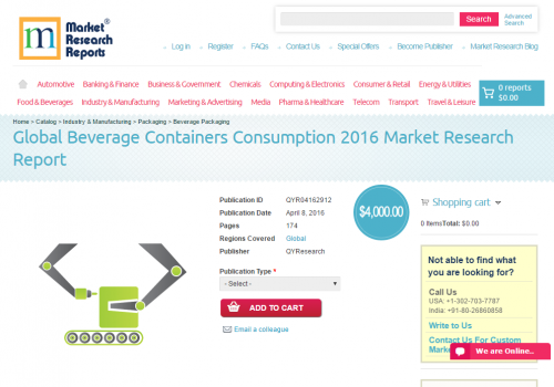 Global Beverage Containers Consumption 2016'