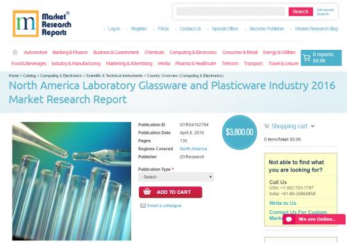 North America Laboratory Glassware and Plasticware Industry'