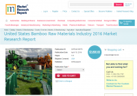 United States Bamboo Raw Materials Industry 2016