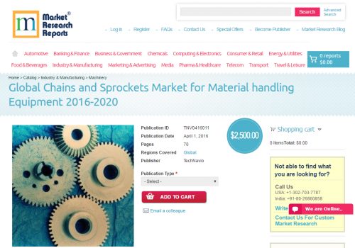 Global Chains and Sprockets Market for Material handling'