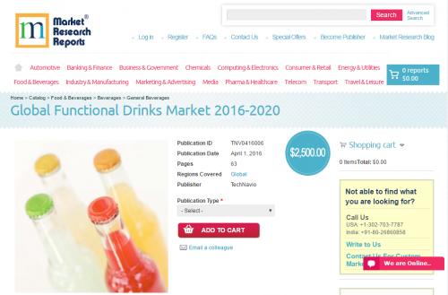 Global Functional Drinks Market 2016 - 2020'