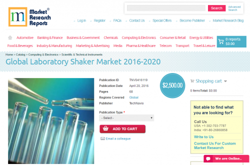 Global Laboratory Shaker Market 2016 - 2020'