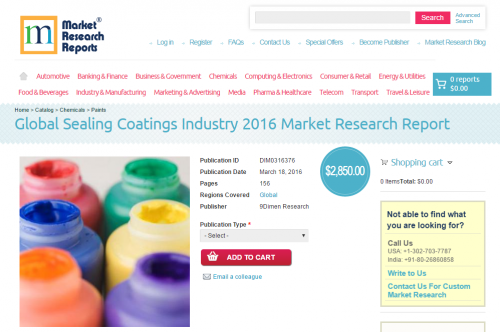 Global Sealing Coatings Industry 2016'