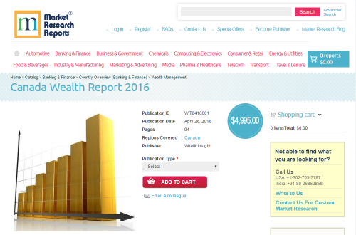 Canada Wealth Report 2016'