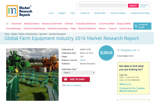 Global Farm Equipment Industry 2016'