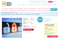 Global Palm Vein Biometrics Market 2016 - 2020