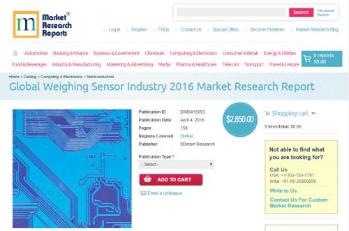Global Weighing Sensor Industry 2016'