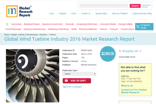 Global Wind Tuebine Industry 2016'
