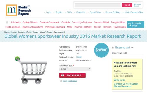 Global Womens Sportswear Industry 2016'