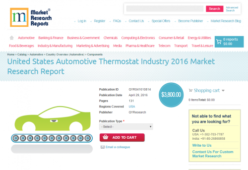 United States Automotive Thermostat Industry 2016'