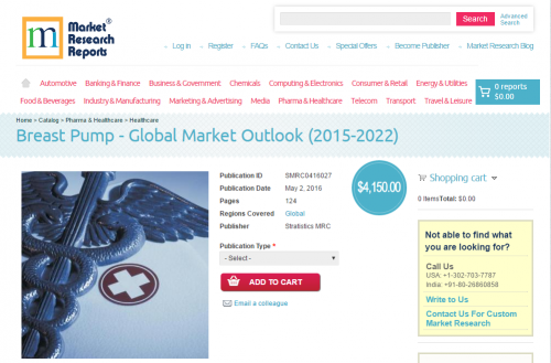 Breast Pump Global Market Outlook 2015 - 2022'