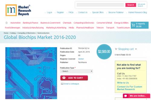 Global Biochips Market 2016 - 2020'