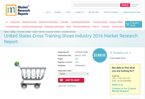 United States Cross Training Shoes Industry 2016 Market Rese'
