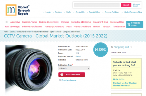 CCTV Camera Global Market Outlook 2015-2022'