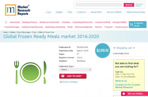 Global Frozen Ready Meals market 2016 - 2020'