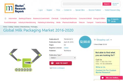 Global Milk Packaging Market 2016 - 2020'