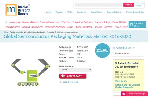 Global Semiconductor Packaging Materials Market 2016 - 2020'