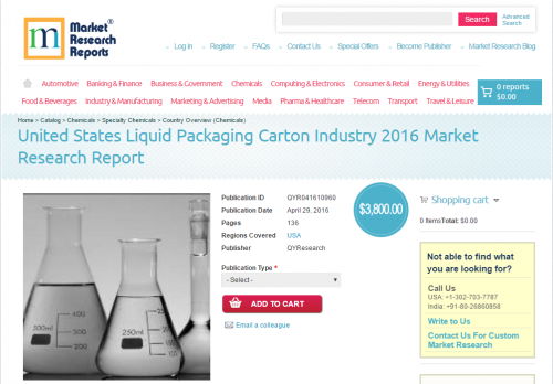 United States Liquid Packaging Carton Industry 2016'