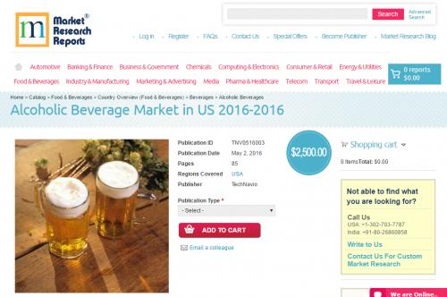 Alcoholic Beverage Market in US 2016 - 2020'