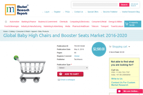 Global Baby High Chairs and Booster Seats Market 2016 - 2020'