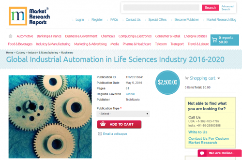 Global Industrial Automation in Life Sciences Industry 2020'
