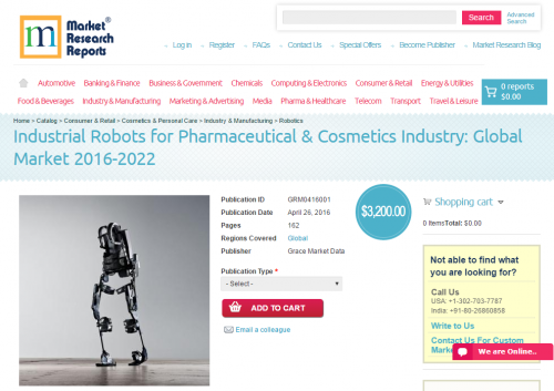 Industrial Robots for Pharmaceutical & Cosmetics Ind'
