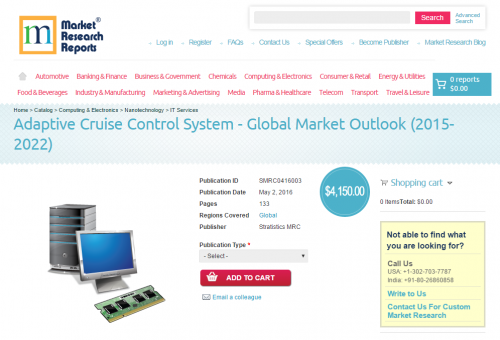 Adaptive Cruise Control System - Global Market Outlook'