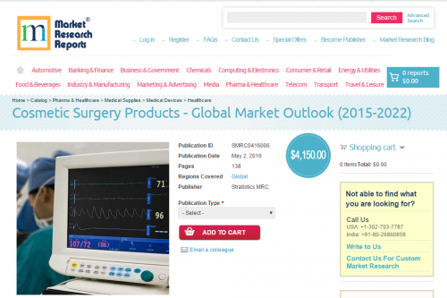 Cosmetic Surgery Products - Global Market Outlook 2015-2022'