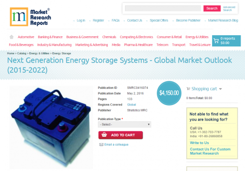 Next Generation Energy Storage Systems'