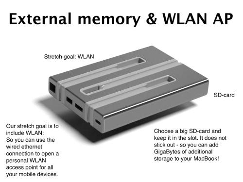 berlin1000 External Memory and WLAN AP'