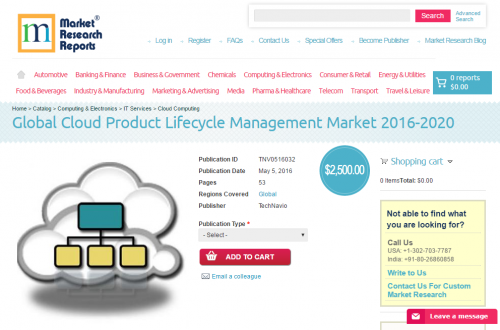 Cloud Product Lifecycle Management Market 2016 - 2020'