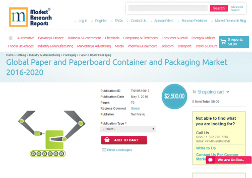 Global Paper and Paperboard Container and Packaging Market 2'