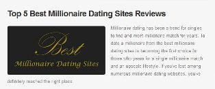 Millionaire Dating Sites'