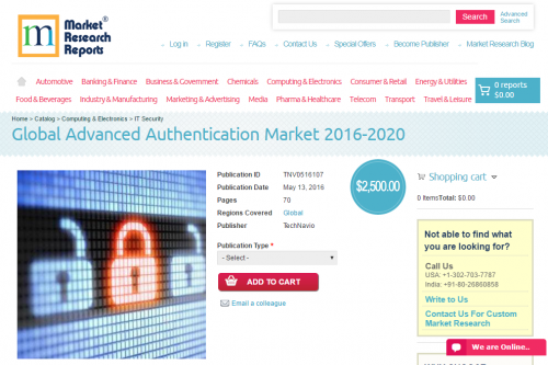 Global Advanced Authentication Market 2016 - 2020'