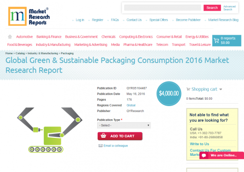 Global Green & Sustainable Packaging Consumption 201'
