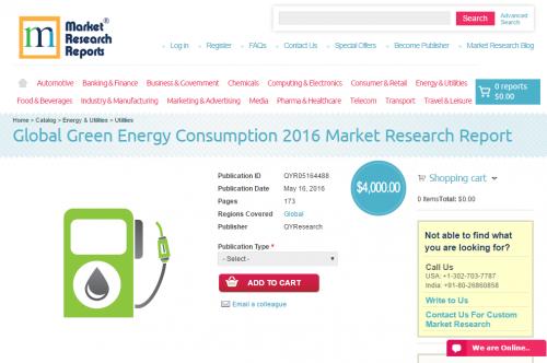 Global Green Energy Consumption 2016'