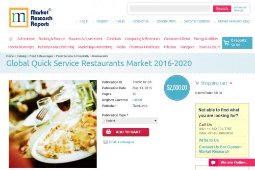 Global Quick Service Restaurants Market 2016 - 2020'
