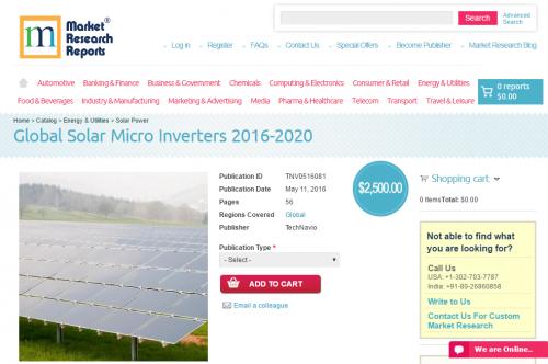 Global Solar Micro Inverters 2016 - 2020'