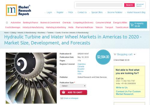 Hydraulic Turbine and Water Wheel Markets in Americas'