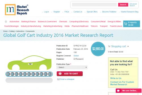 Global Golf Cart Industry 2016'