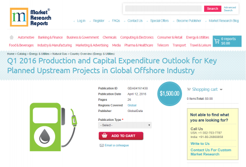 Q1 2016 Production and Capital Expenditure Outlook'