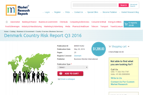 Denmark Country Risk Report Q3 2016'